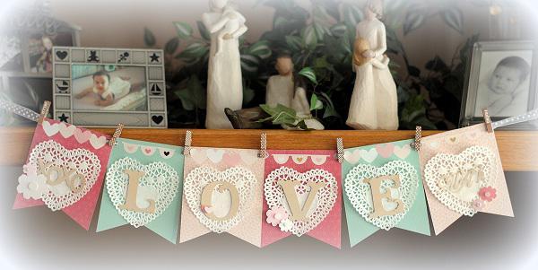 LOVE Banner  **Pebbles**