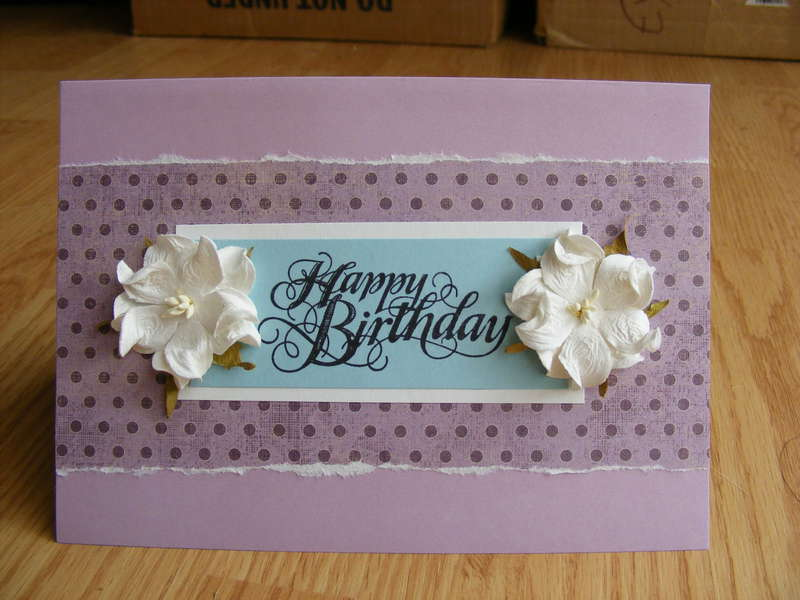 Purple and Blue Birthday Card