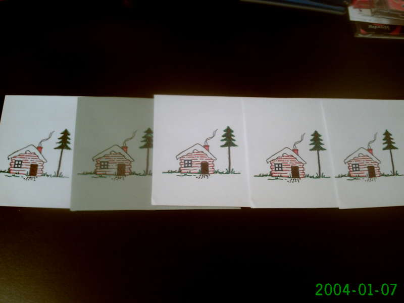 The envelopes for the Christmas cards