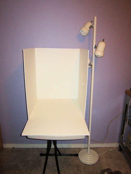 Homemade photo studio light box
