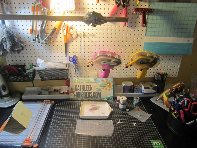 My scrapbooking & packaging station