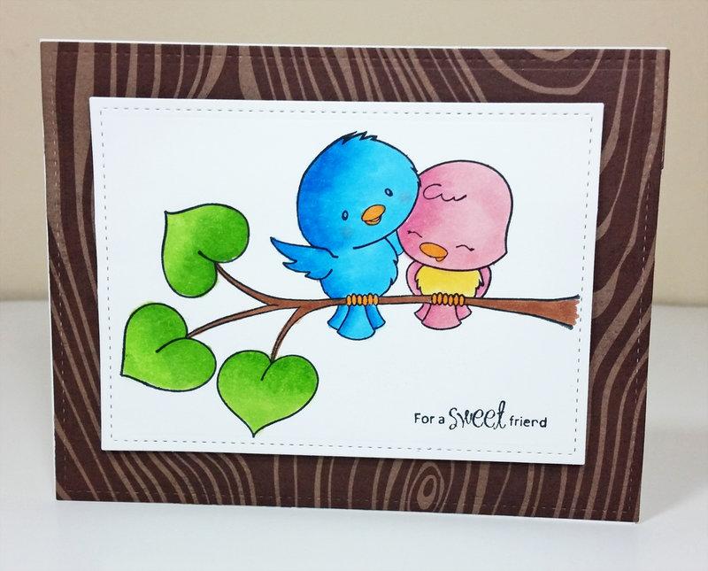 Copic Colored Love Birds