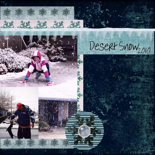 DESERT SNOW...