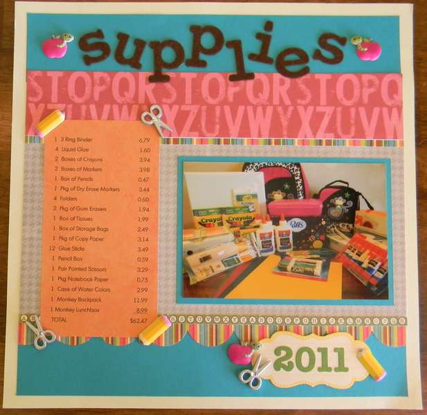 Supplies 2011