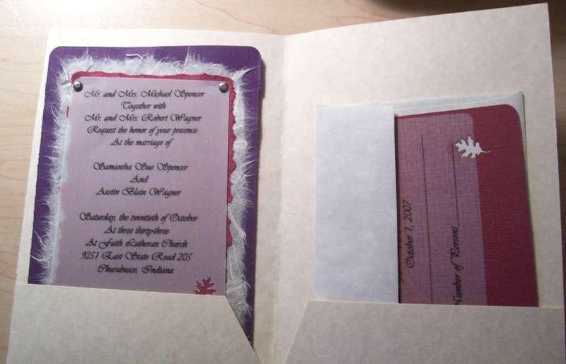 Wedding invite Folder