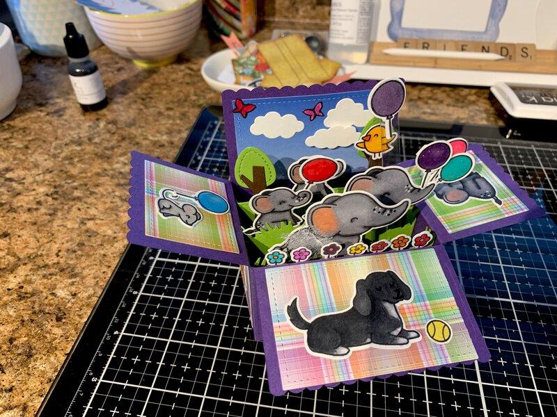 Exploding box card