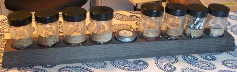 Antique Fertilizer jar samples