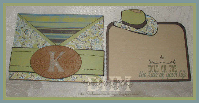 Cowgirl Criss-Cross Card Insert