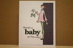 Expecting a baby card.