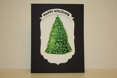 Watercolored Holiday Tree