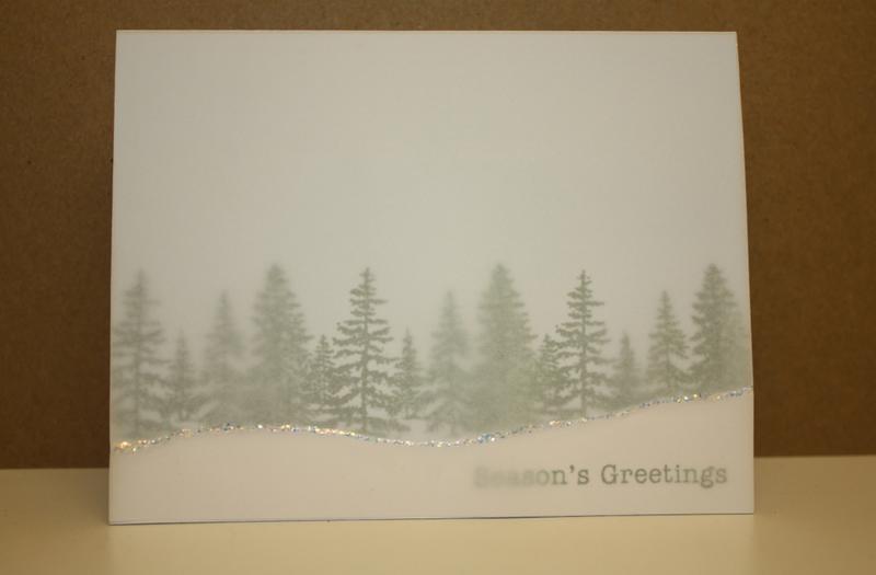 Snowy Trees Season's Greetings