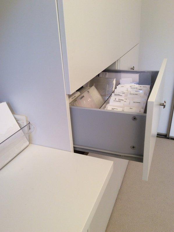 Embossing folder and die storage