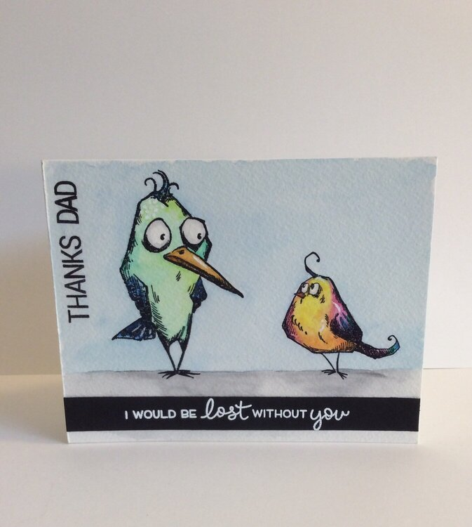 Bird Crazy Father's Day Card