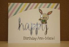 Shiny Happy Birthday card