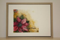 Watercolored Poinsettia