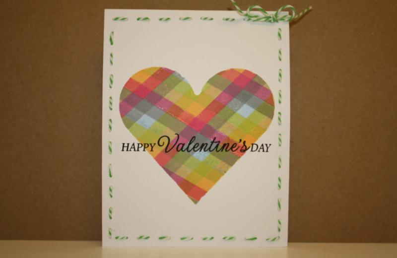 Plaid stamped heart