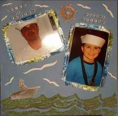 NAVY ALBUM OF MY BROTHER