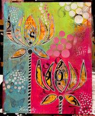 Karenliz and her stencil aliens