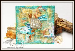 Mixed Media Beach inspired board by Beck Beattie