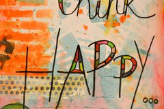 """Think Happy…Be Happy"" Mixed Media Art Journal by Keri Sallee"