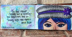 TCW Mixed Media Art Journal Page by Rita Barakat