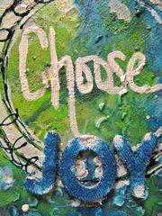 Choose Joy Canvas by Karen Liz Henderson