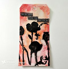 Black Poppy Tag by Shanna Shands **The Crafters Workshop