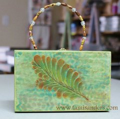 Heathered Feathered Box Purse by Tami Sanders