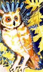 Owl Index Card Art by Carmen Medlin  **The Crafters Workshop