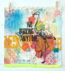 Fun Banner using Stencils by Leeann Pearce  **The Crafters Workshop