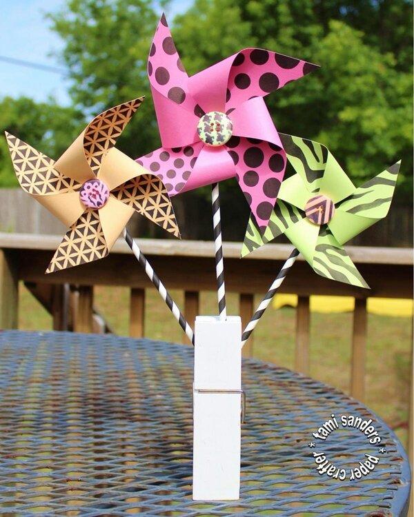 Pretty Pinwheels by TCW DT Member  Tami Sanders