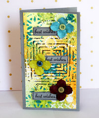 Best Wishes - Mixed Media Cards by TCW DT Member Sanna Lippert