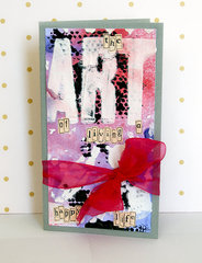 ART Mixed Media Cards by TCW DT Member Sanna Lippert