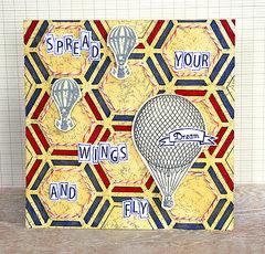 Easy stencil ideas for cards by Sanna Lippert