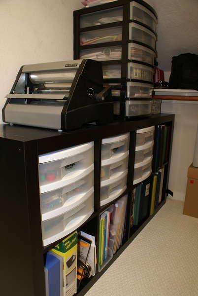 Scraproom Closet Storage