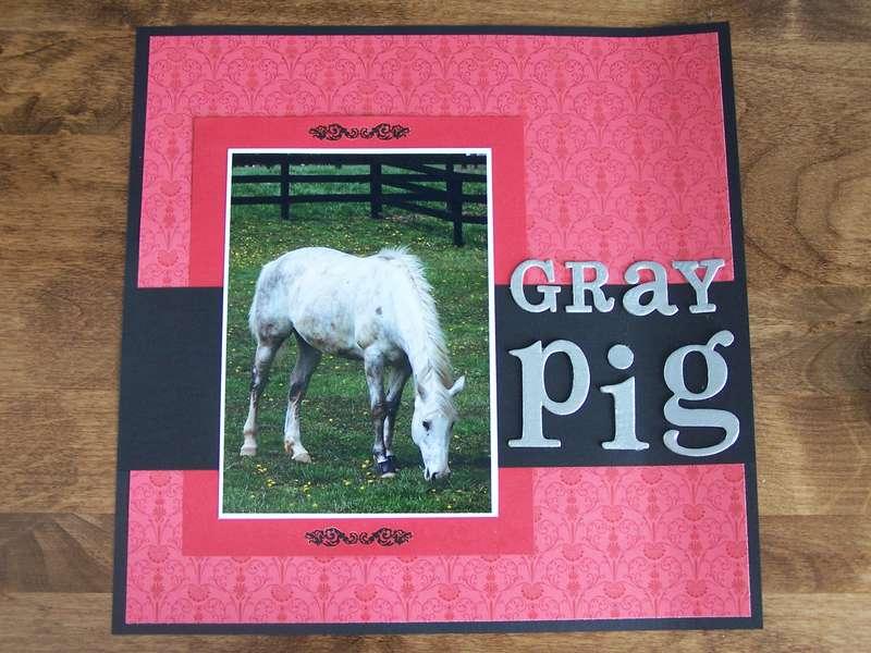 Gray Pig-left