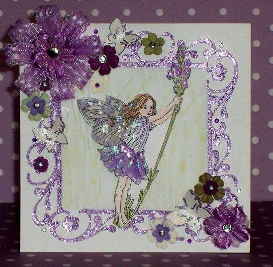 Lavendar Flower Fairy Birthday