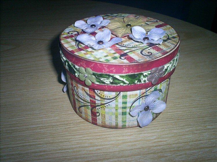 My box under my glass star ornaments