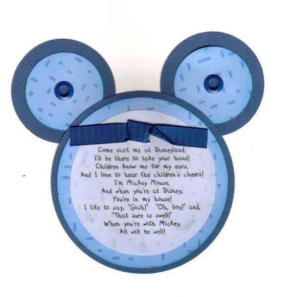 Mickey Mouse Ears Poem