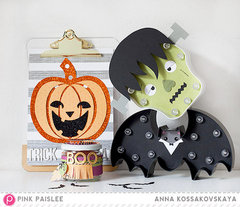 Halloween Home Decor with HS Marquee Love and Pink Paislee by Anna Kossadovskaya