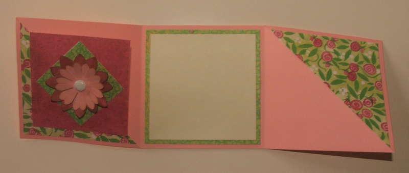 Flower Card - Triangle Fold Inside
