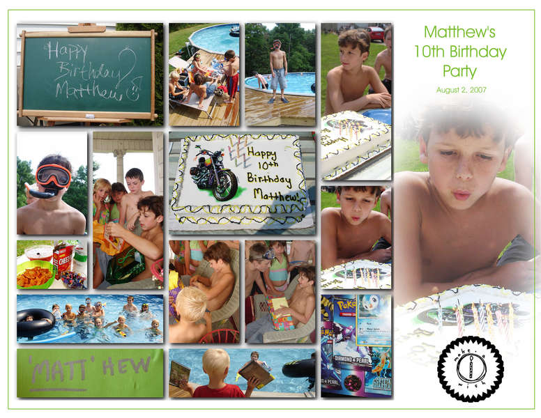 Birthday Party (16 pics on one 8.5x11 page)