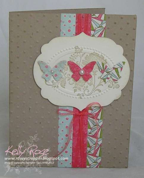 Fresh Vintage Butterfly card