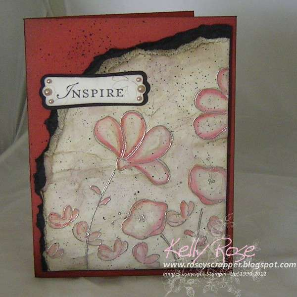 Awash with flowers Inspired card