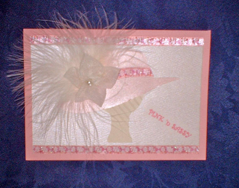 Pink and Sassy Ladies Hat card