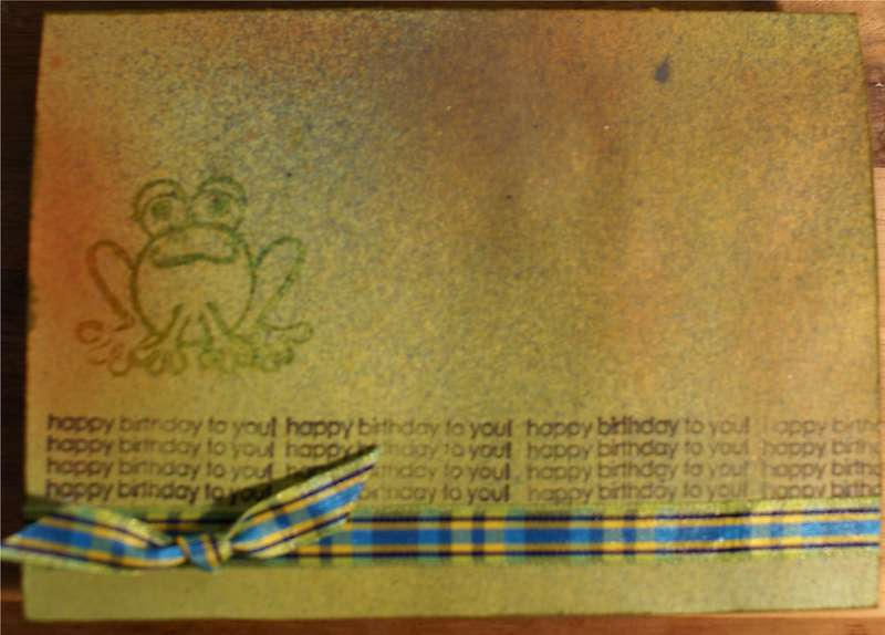 Frog B-day (front)