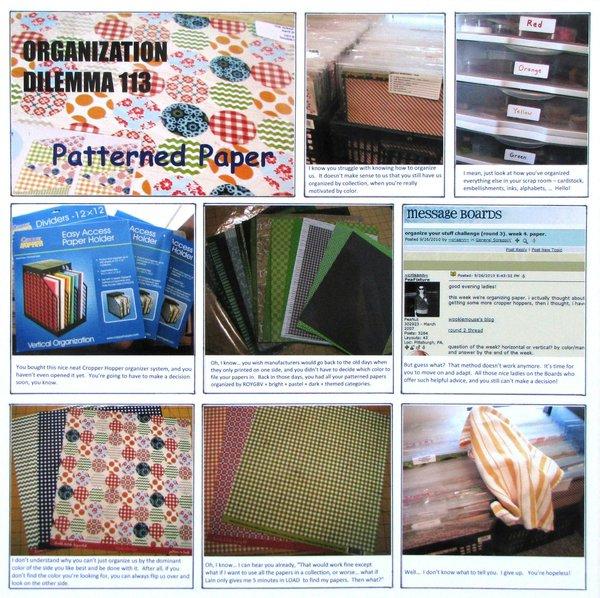 Organization Dilemma 113:  Patterned Paper