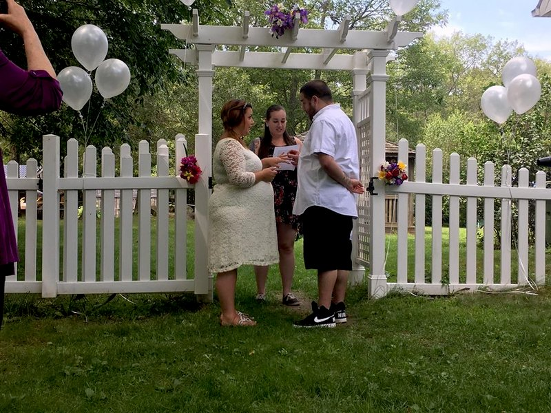 ELIZABETH AND ANDREW TIE THE KNOT