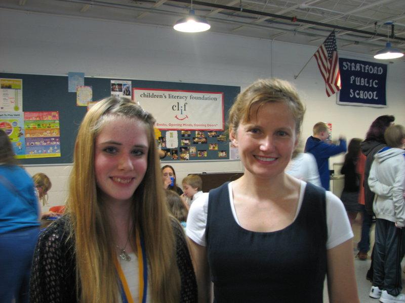 Hannah and her Art Teacher