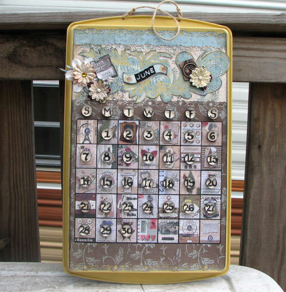 "Cookie Sheet Perpetual Calendar ""Shabby Chic"""